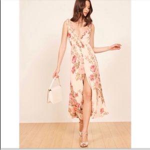 New Reformation Harper Floral Josephine Midi Dress